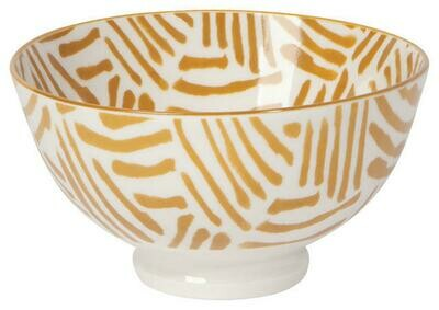 Now Designs 4 in Bowl - Ochre Lines