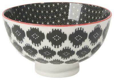 Now Designs 4 in Bowl - Black Ikat