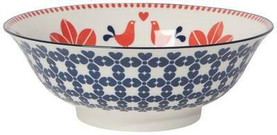 Now Designs 8 in Bowl - Red Navy Bird