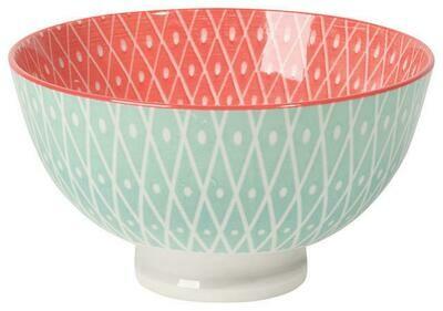 Now Designs 4 in Bowl - Lt Blue Geo