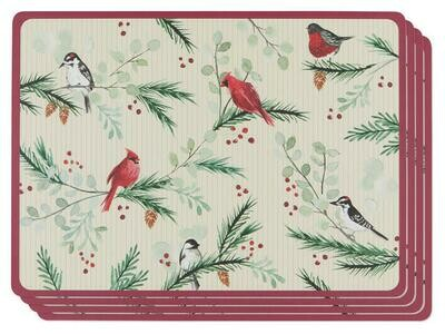 Now Designs Cork Back Placemats - Forest Birds