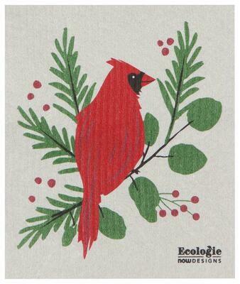 Now Designs Swedish Dishcloth - Forest Cardinal