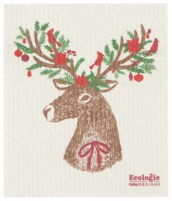 Now Designs Swedish Dishcloth - Dasher Deer
