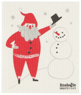Now Designs Swedish Dishcloth - Must Be Santa