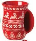 Tag Handwarmer Mug - Sugar & Spice Red