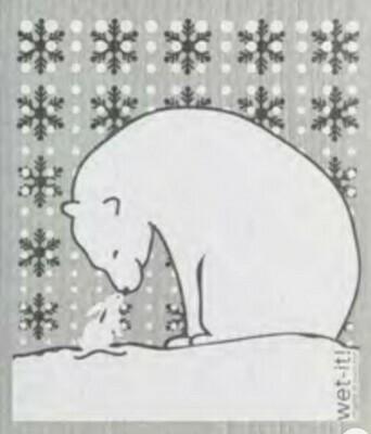 Wet-It Polar Bear Swedish Dishcloth