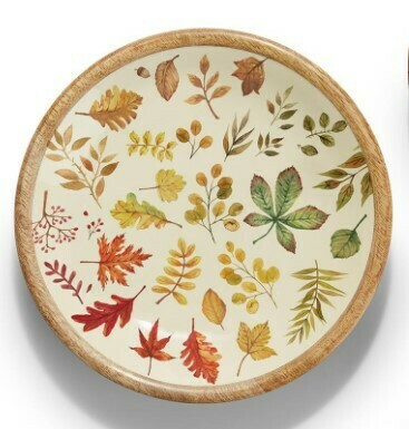 Two's Co Harvest Bounty Wood Bowl - Larg