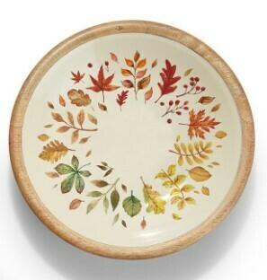 Two's Co Harvest Bounty Wood Bowl - Medium