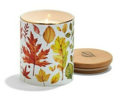 Two's Co Falling Leaves Candle Jar