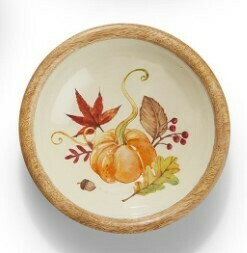 Two's Co Harvest Bounty Wood Bowl - Small