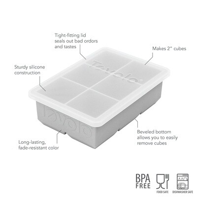 Tovolo King Ice Cube Tray w Lid