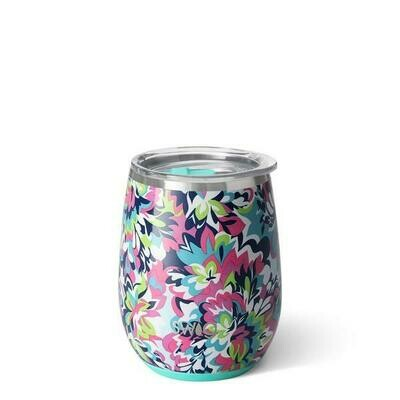 Swig Insulated Stemless Wine - Frilly Lilly