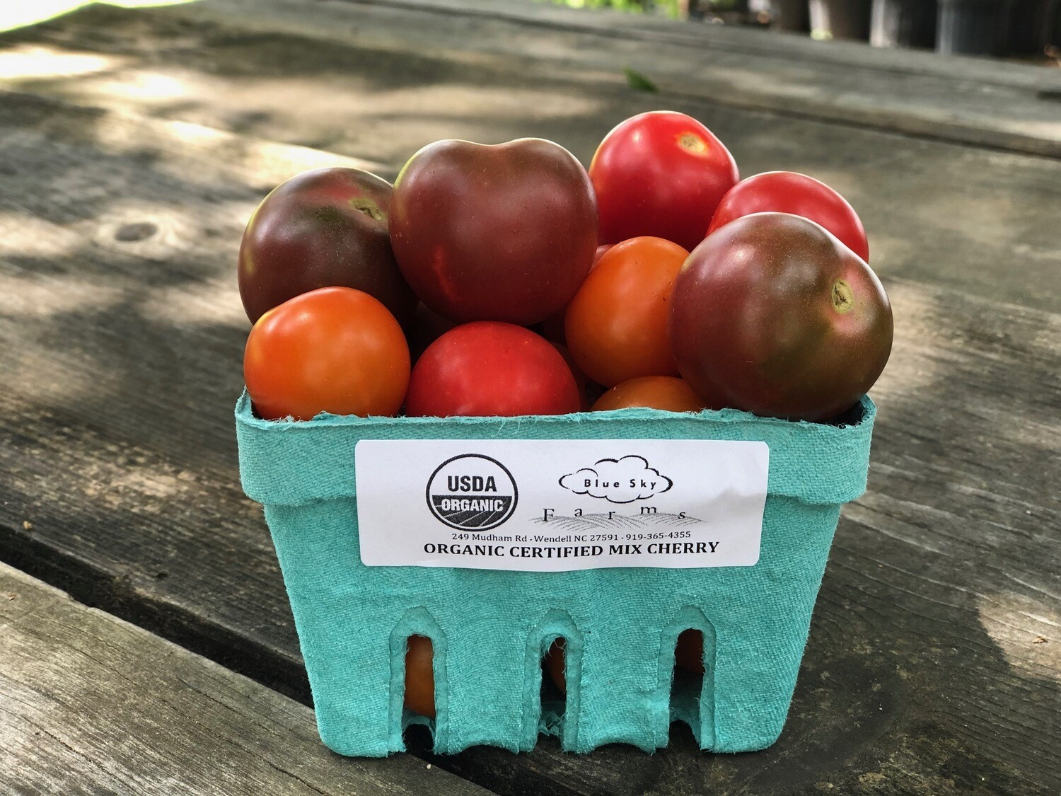 Certified Organic Blue Sky Mix Baby Cherry Tomatoes ~ 1 pint