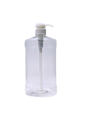 1-Liter PET Plastic Bottle With Twist Pump Cap