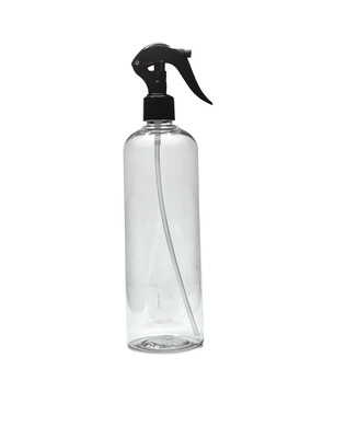 500ml, Pet Plastic Bottle With Trigger Spray, Clear