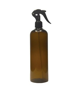 500ml, Pet Plastic Bottle With Trigger Sprayer , Amber