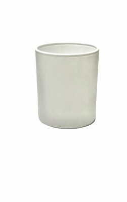 150ml Glass Frosted White Candle Jar