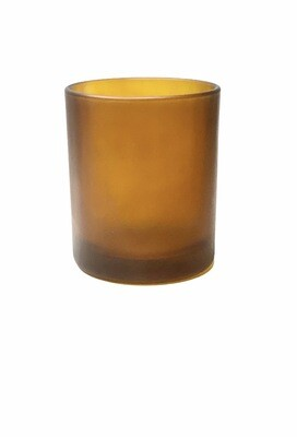 150ml Glass Frosted Amber Candle Jar