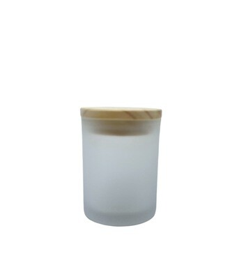 150ml Glass Frosted Jar, Wooden Cap