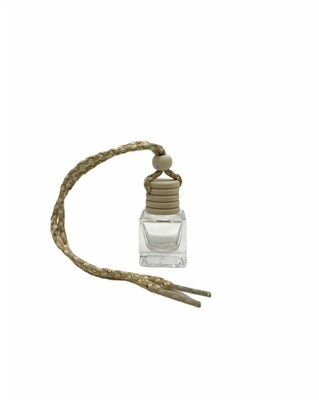 10ml Clear Square Glass Hanging Diffuser Bottle