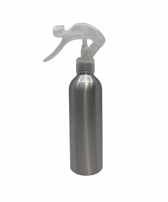 200ml Metal Aluminum Bottle, Clear Trigger Spray
