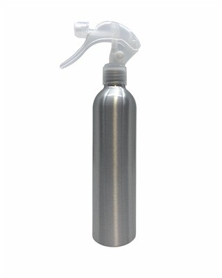 250ml Metal Aluminum Bottle, Trigger Spray Clear