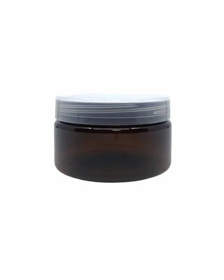 250g, Pet Amber Jar, Natural White Screw Cap