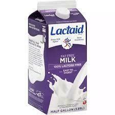 Milk, Lactaid 100% FF 1/2 Gal.