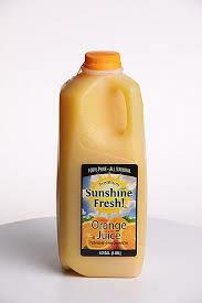 Orange Juice, 1/2gal CreamOLnd