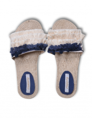 Lords & Lilies Slippers Off White