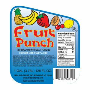 FRUIT DRINK-FRUIT PUNCH GAL