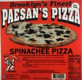 Paesan's Pizza SPINACHEE