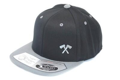 Flexfit Snapback Hat (Black/Grey)