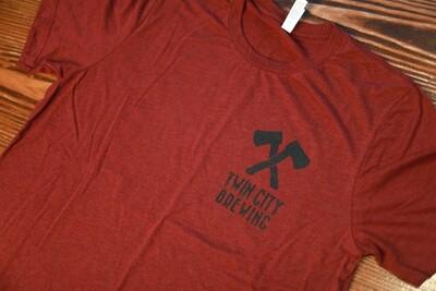 Axes & Sawblade Shirt (Maroon)