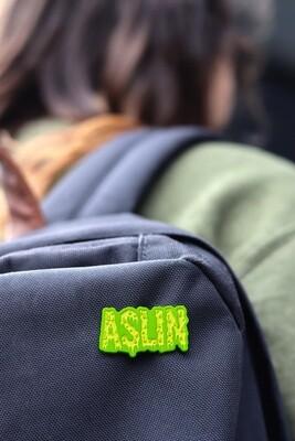 Aslin Slime Enamel Pin