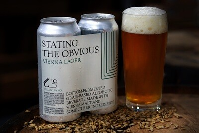 Stating the Obvious Vienna Lager (4-pack)