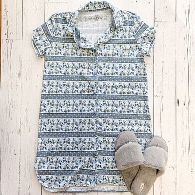 Button Down Sleepshirt