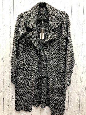 Chevron Sweater Coat