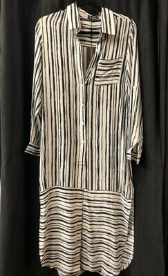 Long Stripe Duster