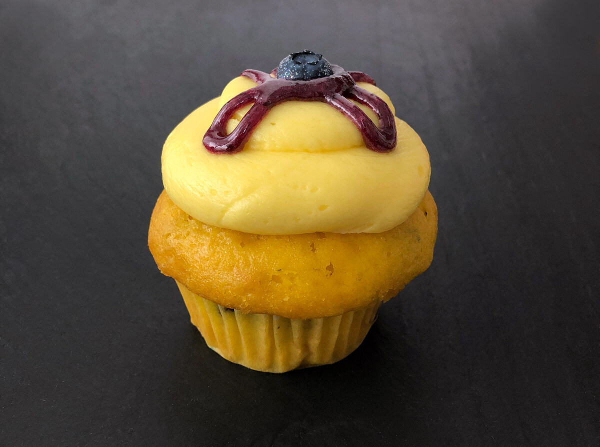 NEW! Lemon-Blueberry Cupcake