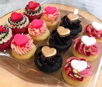Valentine's Day Mini-Cupcakes Dozen