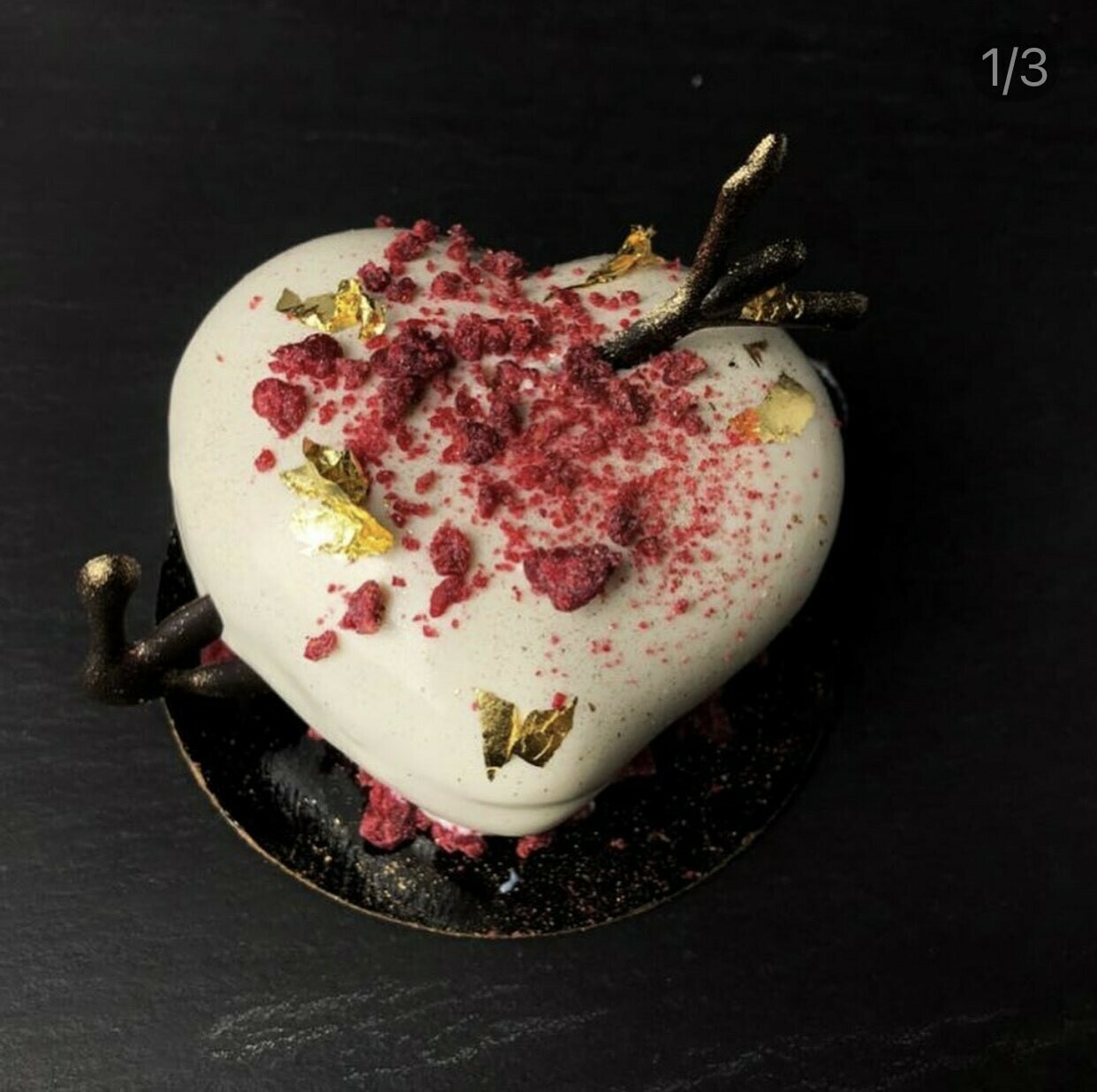 PRE-ORDER Valentine's Day White Chocolate Mousse Heart for 2/13 or 2/14