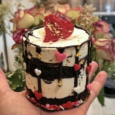 Valentine's Day White Chocolate Mousse Cake