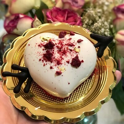 White Chocolate Mousse Heart