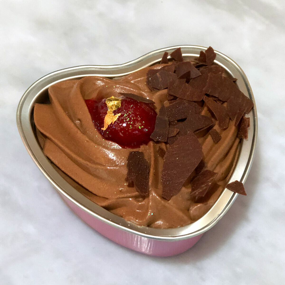 Valentine's Day Chocolate Cherry Mousse (G.F.)