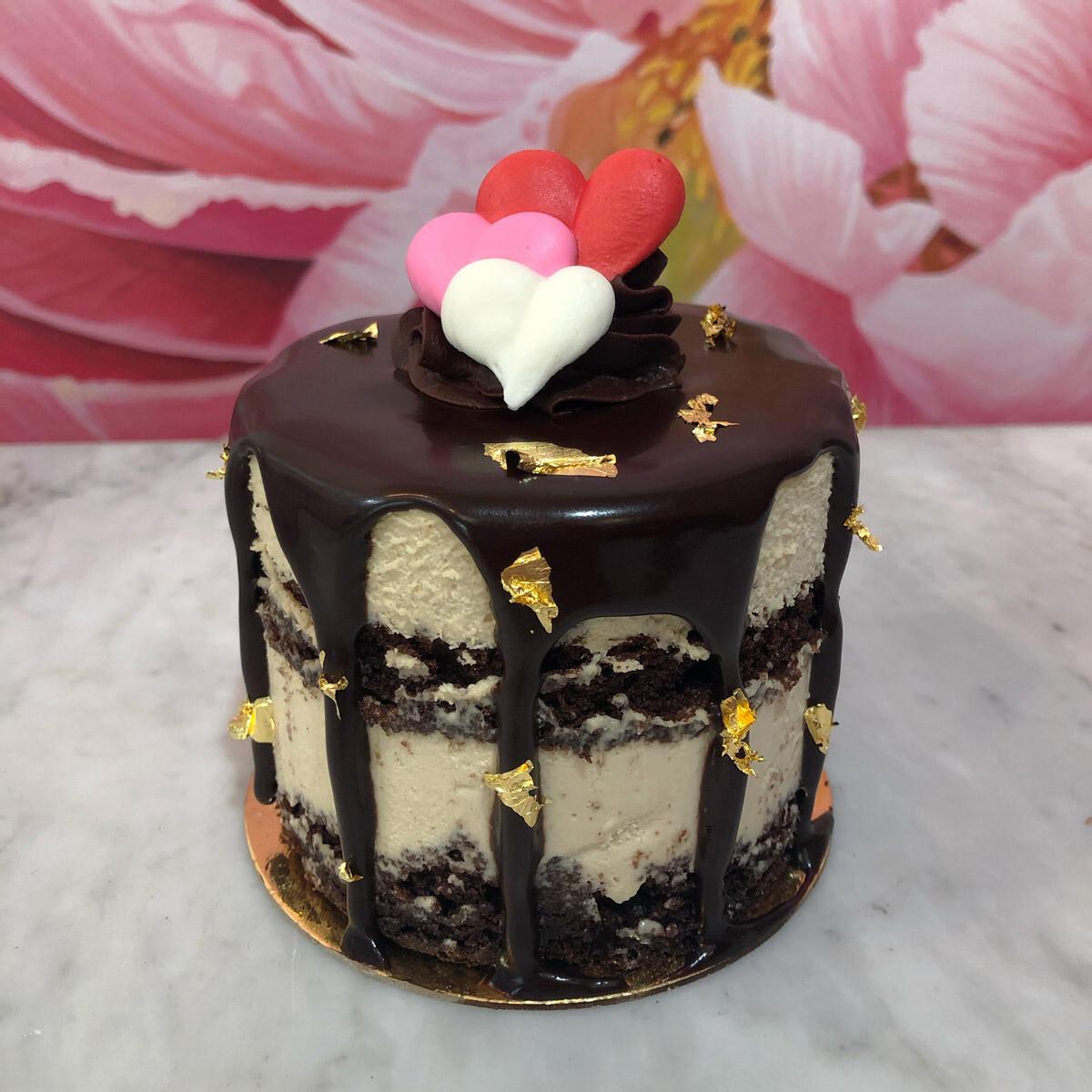 Valentine's Day Espresso Mousse Cake