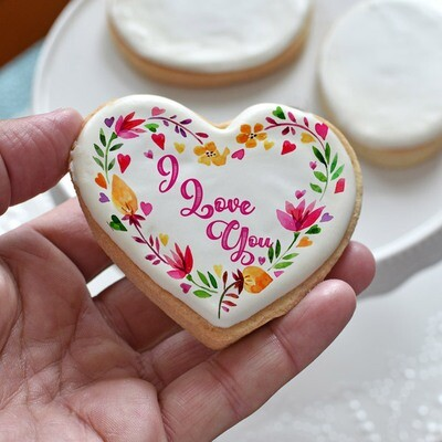 NEW! I Love You Heart Cookie