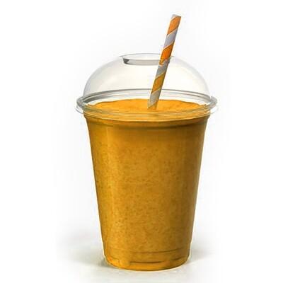 BUMBLEBEE (Happy Protein Boost) Banana, Almond Butter, Raw Cacao, Vanilla, Apple Juice, Almond Milk -VEGAN-