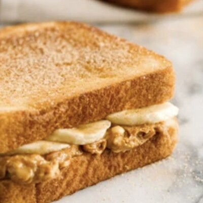 Toasted Health Bread w Peanut Butter and Fresh Banana