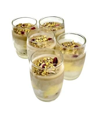 Bicchierini di semifreddo al pistacchio e gel di limone